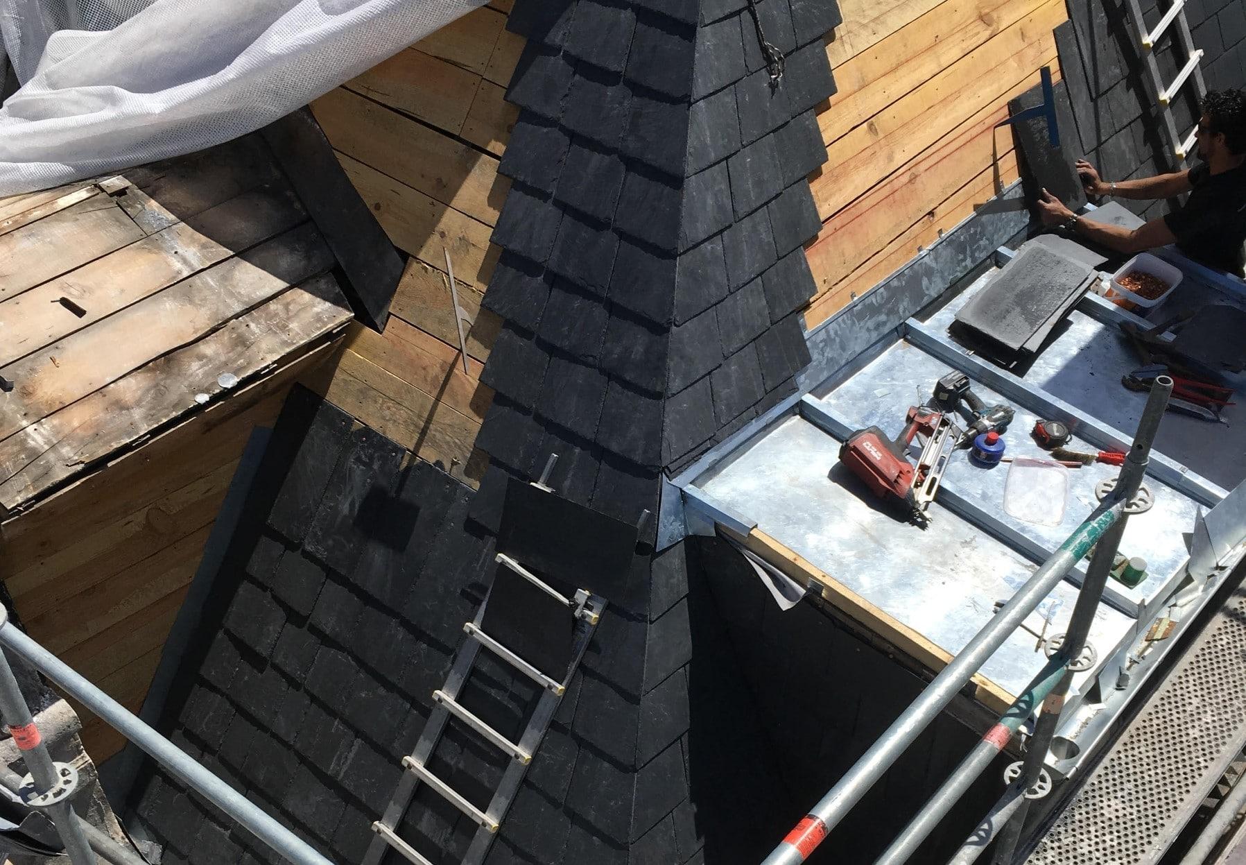 Rénovation d'une toiture en ardoise à Biarritz (64) - Darrieumerlou Charpentier