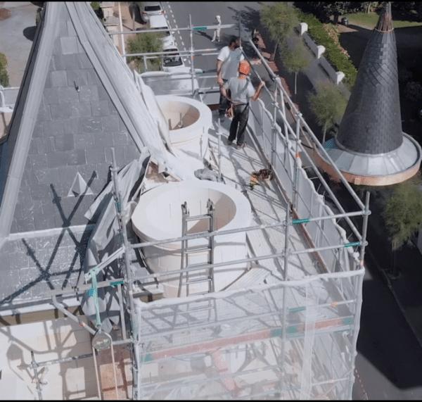 Rénovation et Levage des tourelles de la villa Roche ronde à Biarritz